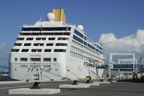 Photograph - Cruise Ship Adonia At Port Canaveral Terminal One by Bradford Martin
