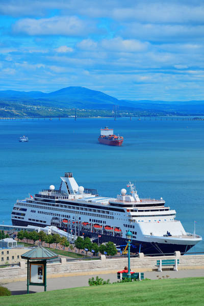 Photograph - Cruise Ship In Quebec City by Songquan Deng