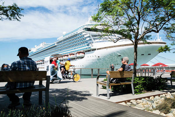 Princess Cruise Lines Photograph - Cruise Ship On The Embarcadero by Robert VanDerWal