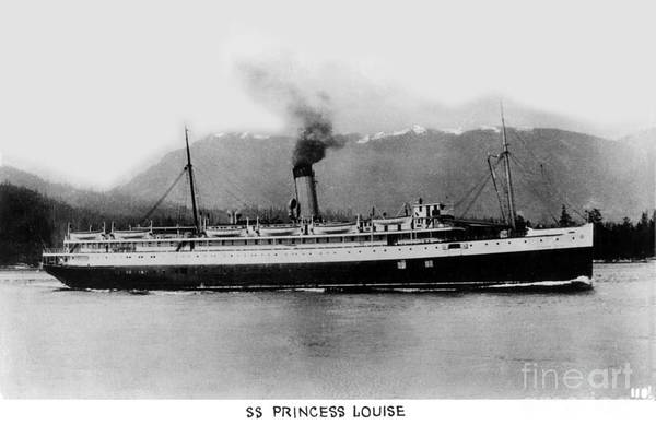 Photograph - Cruise Ship Ss Princess Louise On The Inside Passage  Circa 1932 by California Views Archives Mr Pat Hathaway Archives