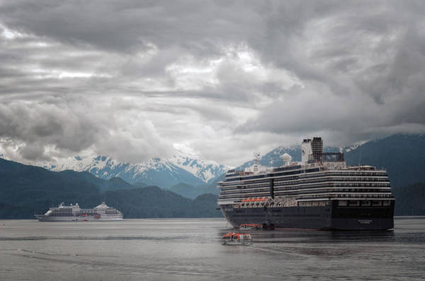 Holland America Line Wall Art - Photograph - Cruise Ships In Port - Sitka Alaska 2 by SharaLee Art
