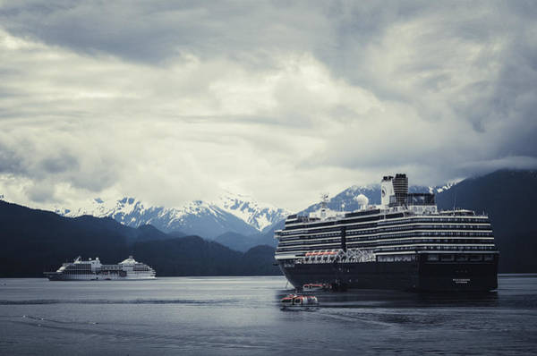 Holland America Line Wall Art - Photograph - Cruise Ships In Port - Sitka Alaska by SharaLee Art