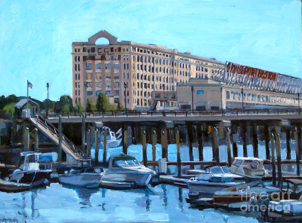 Painting - Cruiseport Boston by Deb Putnam