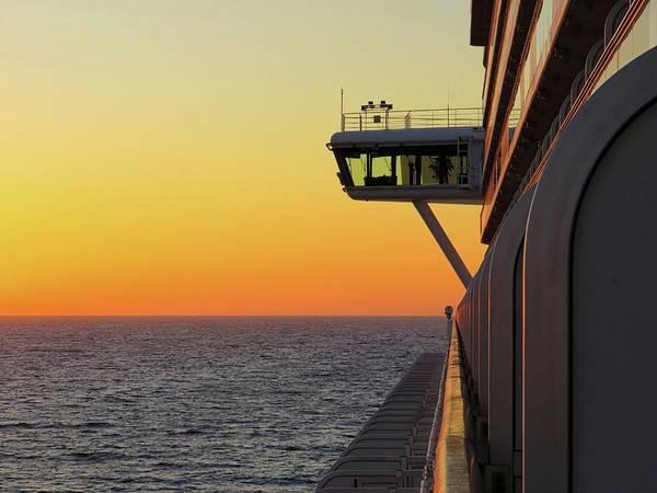 Golden Princess Photograph - Cruising At Sunset by Connor Beekman