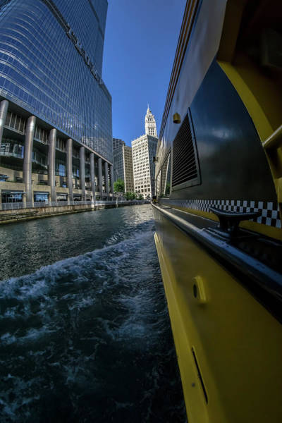 Photograph - Cruising By Trump Tower And The Wrigely Building In Chicago by Sven Brogren