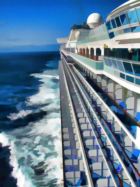 Princess Cruise Lines Photograph - Cruising by Dennis Cox