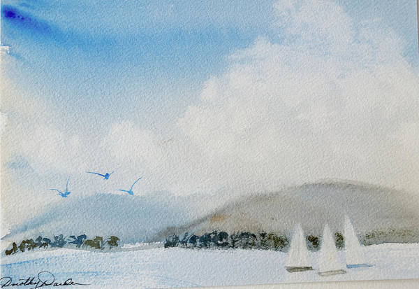 Painting - Cruising In Company Along The Tasmania Coast  by Dorothy Darden