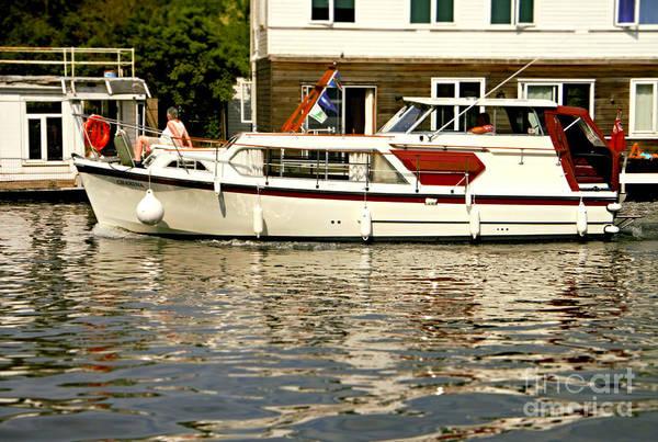 Photograph - Cruising The River Thames by Lance Sheridan-Peel