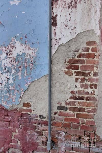 Photograph - Crumbling Brick Facade by Patricia Strand