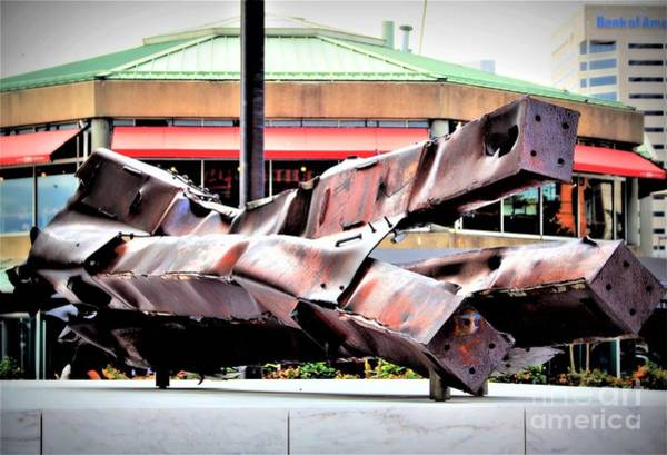 Photograph - Crumpled Steel by Patti Whitten