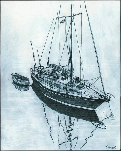 Crusader At Anchor Art Print