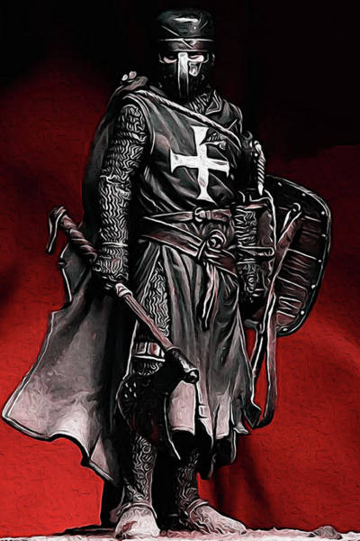 Crusader Warrior - Medieval Warfare Art Print