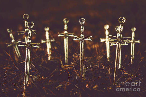Cemeteries Photograph - Crusaders Cemetery by Jorgo Photography - Wall Art Gallery