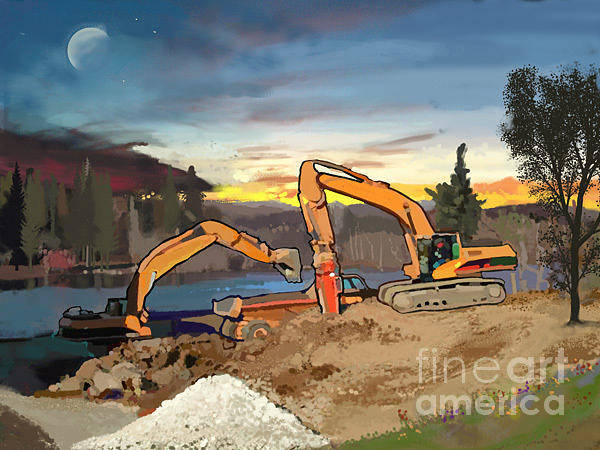 Construction Painting - Crush And Load by Brad Burns