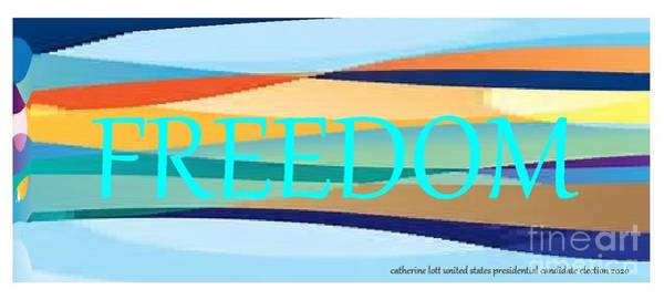 Painting - Cry Freedom Catherine Lott  by Catherine Lott