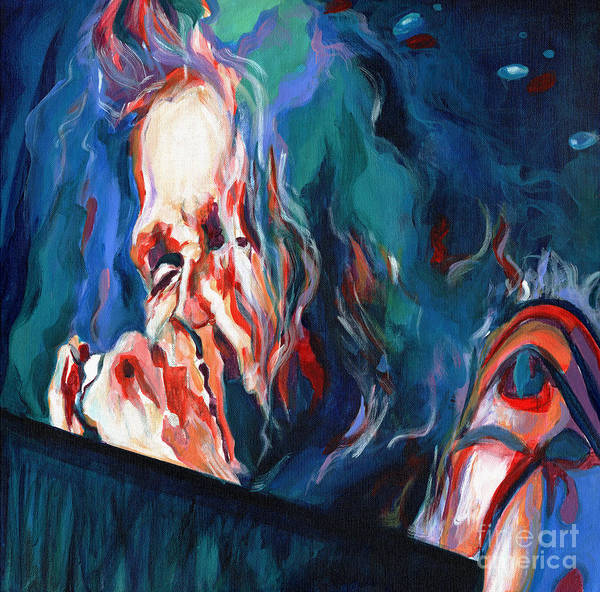 Painting - Love Is Sweet Misery. Steven Tyler  by Tanya Filichkin