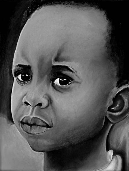 Wall Art - Drawing - Crying Boy by Cristina Sofineti