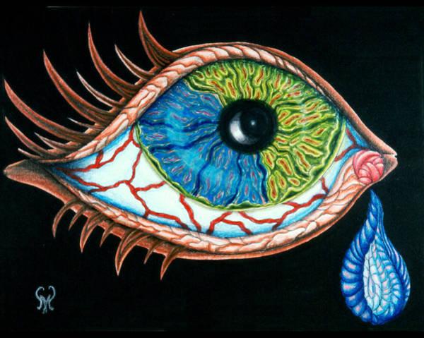 Tear Drawing - Crying Eye by Karen Musick