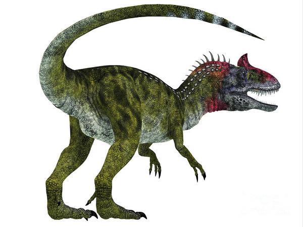 Primeval Painting - Cryolophosaurus Dinosaur Tail by Corey Ford