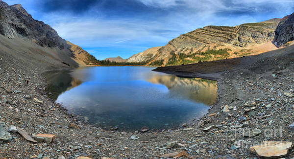 Photograph - Crypt Lake Gold And Blue by Adam Jewell