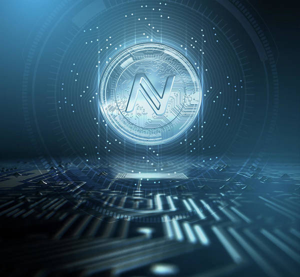 Wall Art - Digital Art - Cryptocurrency Namecoin And Circuit Board by Allan Swart