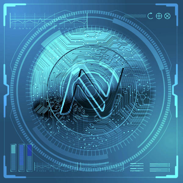 Wall Art - Digital Art - Cryptocurrency Namecoin Futuristic by Allan Swart