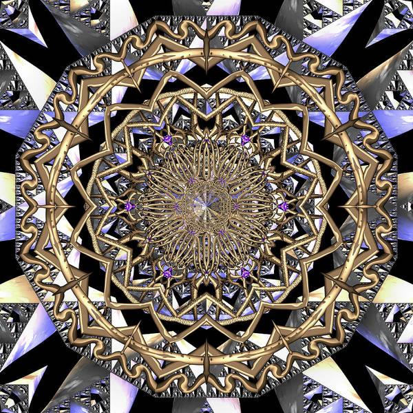 Art Print featuring the digital art Crystal Ahau  by Robert Thalmeier