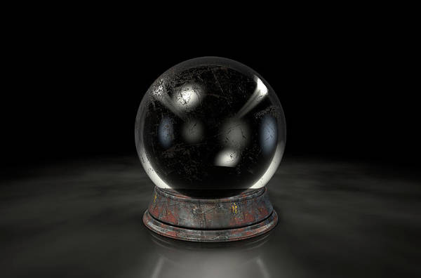 Wall Art - Digital Art - Crystal Ball Dark by Allan Swart