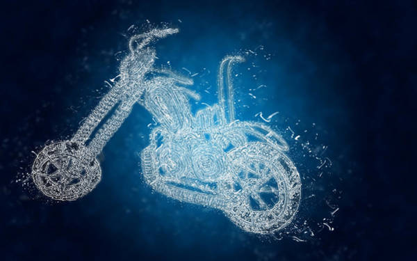 Pyrography - Crystal Bike by Mauro Celotti