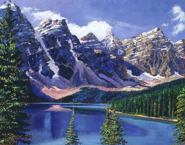 Wall Art - Painting - Crystal Blue Waters by David Lloyd Glover