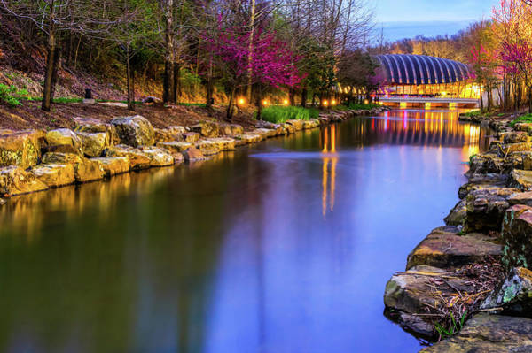 Photograph - Crystal Bridges Museum Of American Art On A Spring Night by Gregory Ballos