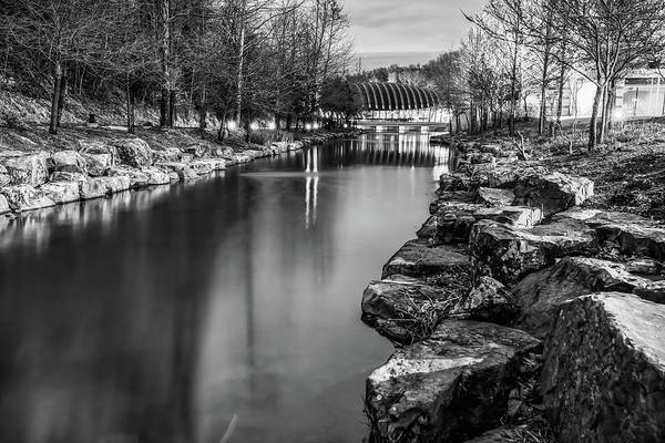 Photograph - Crystal Bridges Museum Of Art - Bentonville Black And White by Gregory Ballos