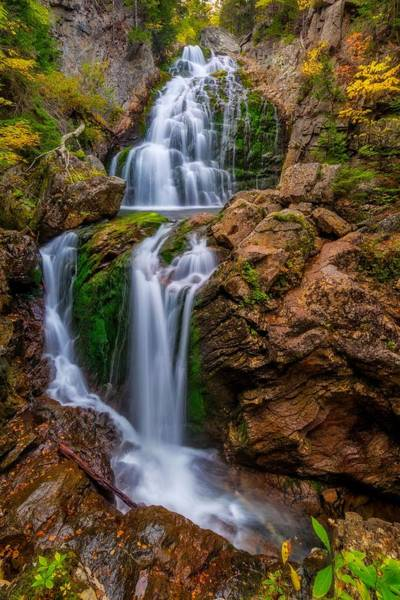 Photograph - Crystal Cascade Autumn 2016 by Bill Wakeley