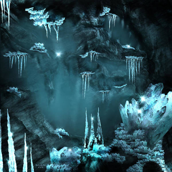 Digital Art - Crystal Cave Mystery by Artful Oasis
