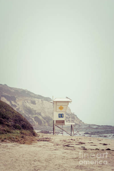 Crystal Coast Photograph - Crystal Cove Lifeguard Tower #11 Retro Picture by Paul Velgos