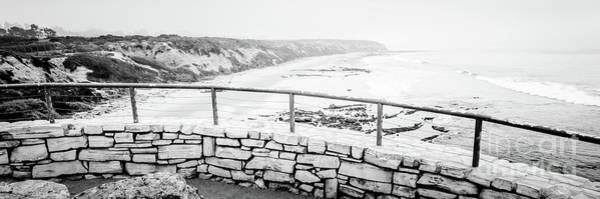 Crystal Coast Photograph - Crystal Cove Panorama In Black And White by Paul Velgos