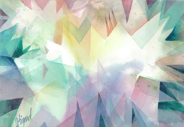 Painting - Crystal Garden by Carolyn Utigard Thomas