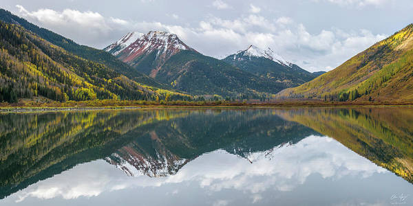 Photograph - Crystal Lake Reflection by Aaron Spong