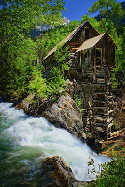Compressor Photograph - Crystal Mill by Priscilla Burgers