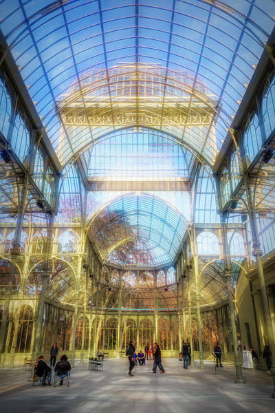 Photograph - Crystal Palace Madrid Interior by Joan Carroll