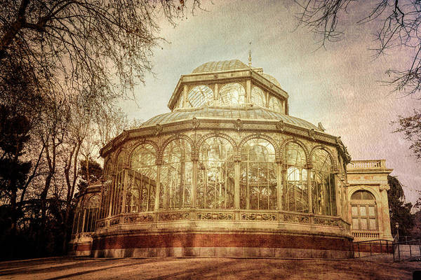 Wall Art - Photograph - Crystal Palace Madrid Textured by Joan Carroll