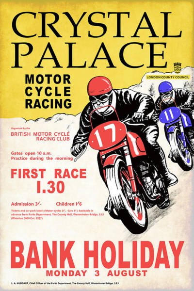 Wall Art - Photograph - Crystal Palace Motor Cycle Racing by Mark Rogan