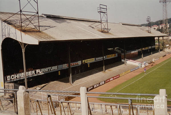 Wall Art - Photograph - Crystal Palace - Selhurst Park - West Main Stand 2 - 1980s by Legendary Football Grounds