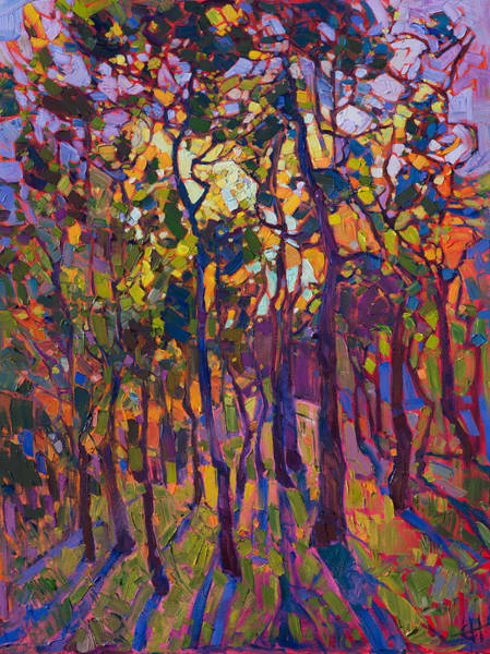 Wall Art - Painting - Crystal Pines by Erin Hanson