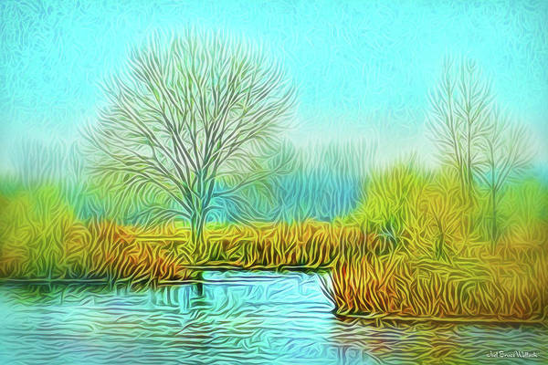 Digital Art - Crystal Pond Awareness by Joel Bruce Wallach
