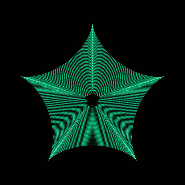 Digital Art - Crystal Star Ig by Robert Krawczyk
