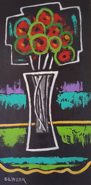Wall Art - Painting - Crystal Vase by Stuart Glazer