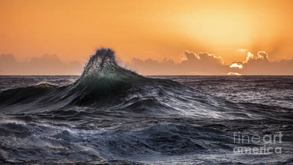 Wall Art - Photograph - Crystal Wave Sunset Napali Coast Kauai Hawaii by Dustin K Ryan