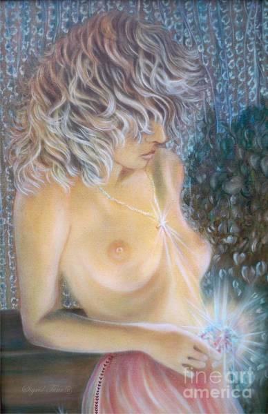 Painting - Blaa Kattproduksjoner                        Crystal Wonder Girl  by Sigrid Tune