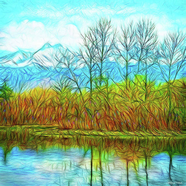 Digital Art - Crystalline Pond Day by Joel Bruce Wallach